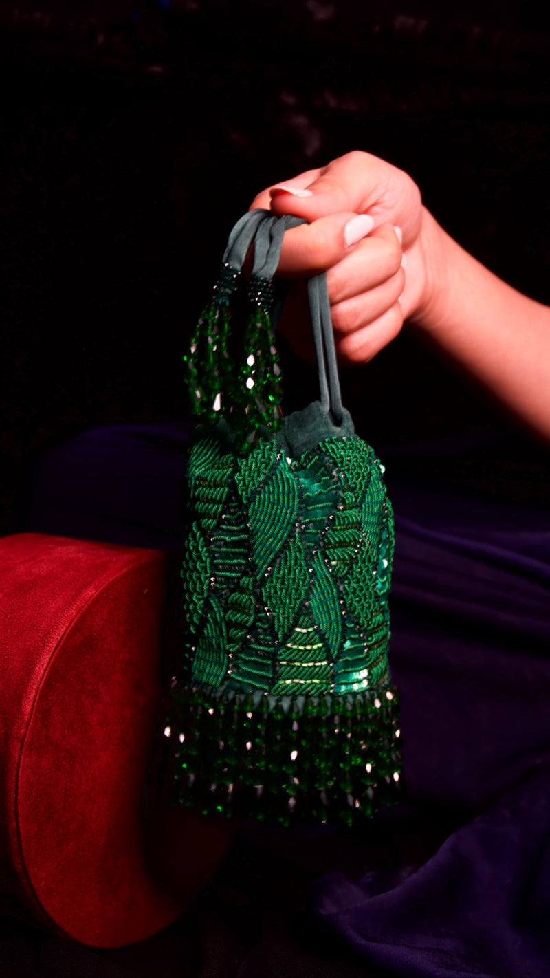 Medusa Mini Green Bag