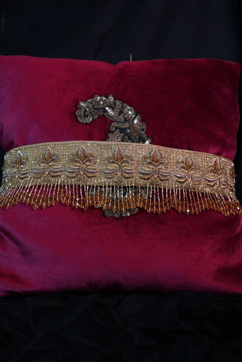 Golden pure silk  embroidered belt - Ozel Bir Sey