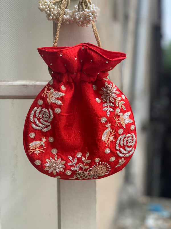 Red English Rose Bag