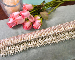 Pearls tassels hand embroidered belt