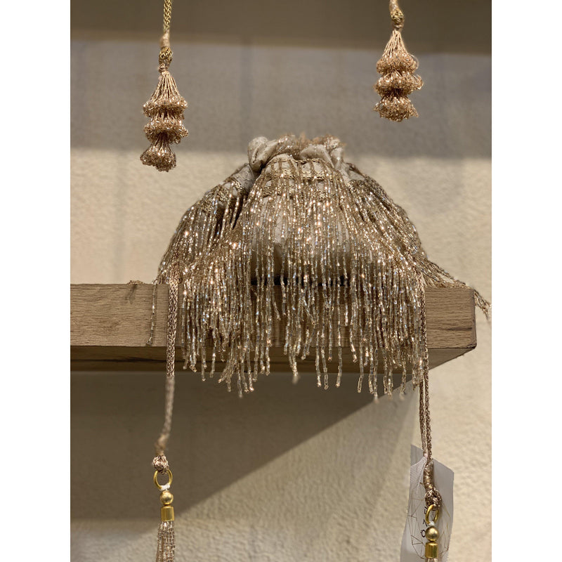 Cleopatra Collection: Rose Gold Tassels Potli