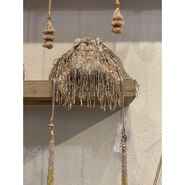 Cleopatra Collection: Rose Gold Tassels Potli - Ozel Bir Sey