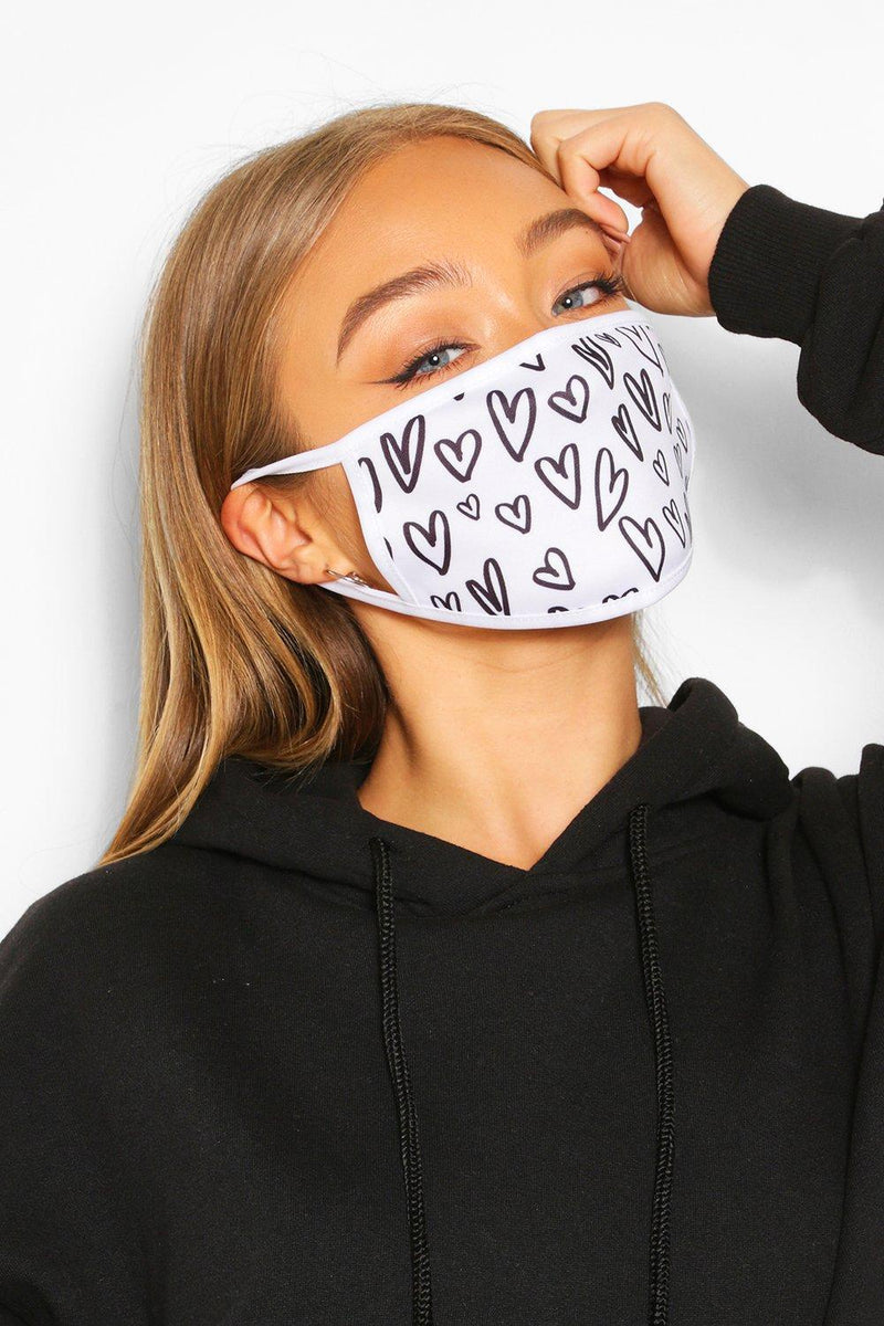 Black Heart Face Mask