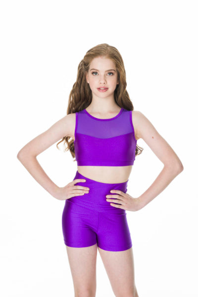 Studio 7 High Waisted Shorts (Child) | Dancewear Nation Australia