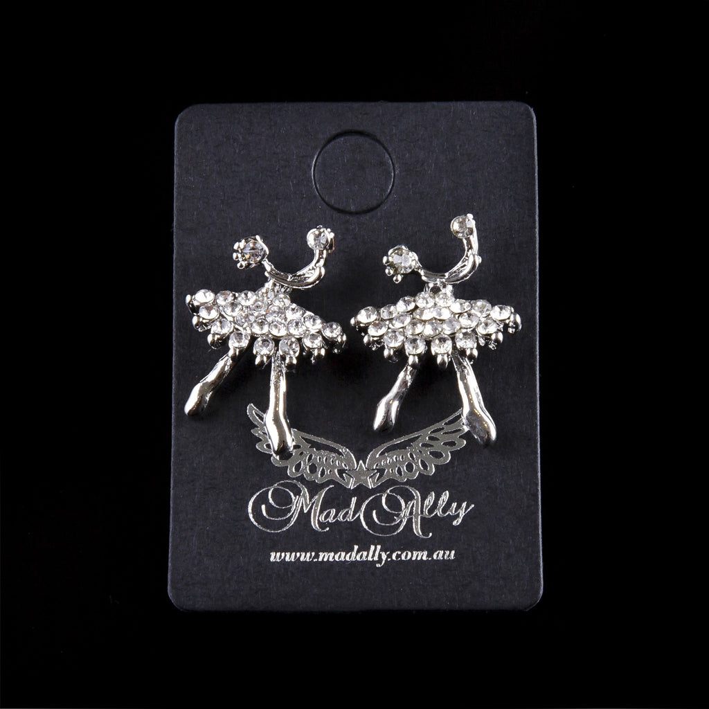 Mad Ally Diamante Ballerina Earrings