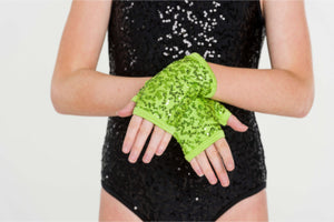 Sequin Fingerless Gloves | Dancewear Nation Australia