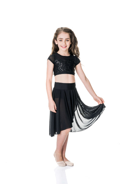 Attitude Sequin Crop Top | Dancewear Nation Australia