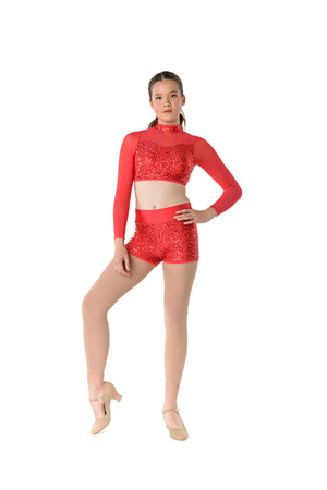 Downtown Long Sleeve Crop | Dancewear Nation Australia