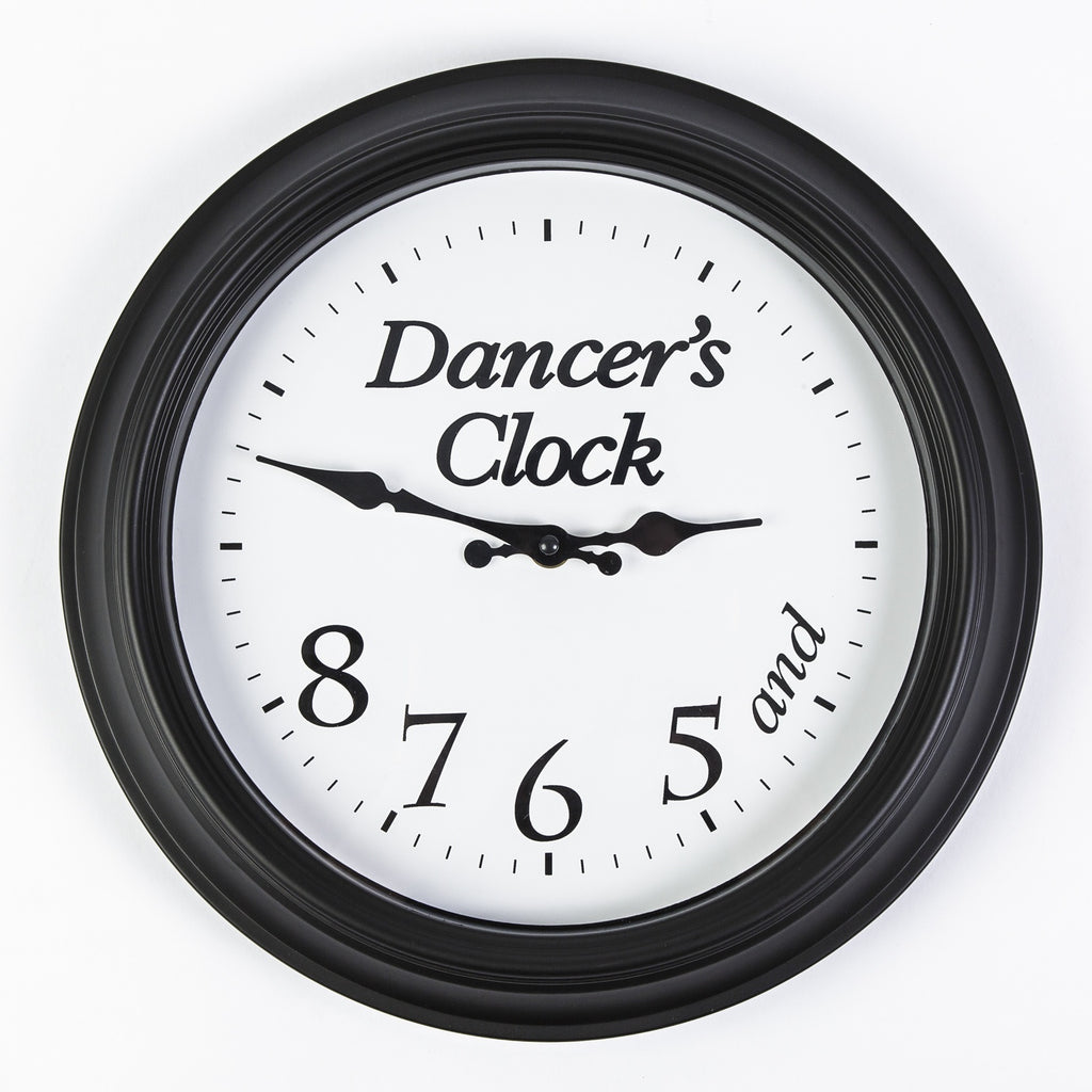 Mad Ally Ballerina Clock - Black