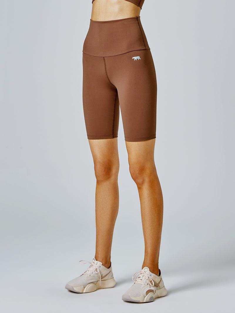 Running Bare Studio Ab-Tastic Bike Short - Toffee (Adult)