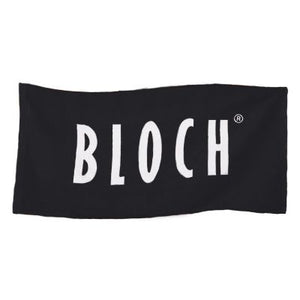 Bloch Logo Towel With Zip Pouch - Black | Dancewear Nation Australia
