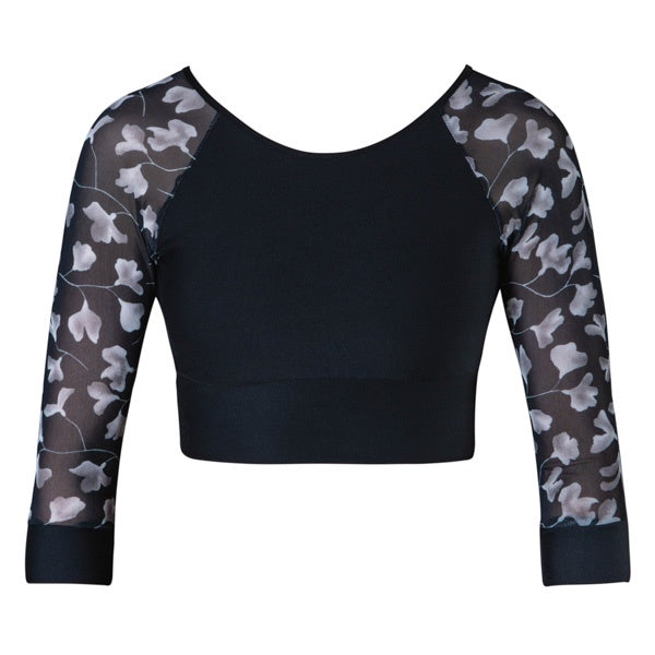 Astrid 3/4 Sleeve Crop - Black (Adult)