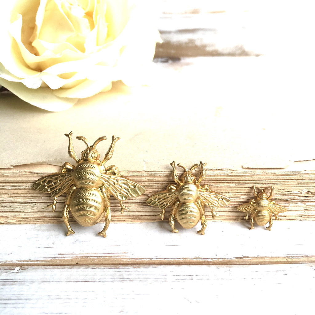 d707d60b85c ... Bumblebee Brooch Tiny Gold Bee Tie Tack Honeybee Pin Gold Bee Lapel Pin  Insect ...