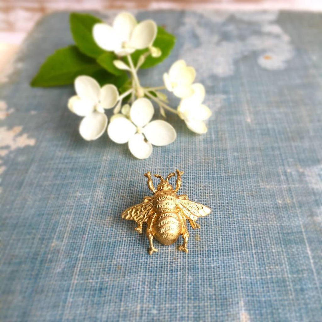 20763516e74 Bumblebee Brooch Tiny Gold Bee Tie Tack Honeybee Pin Gold Bee Lapel Pin  Insect