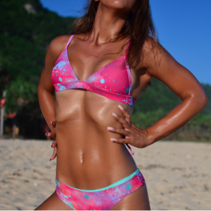 Maillot de bain triangle Pink and Mint Splash
