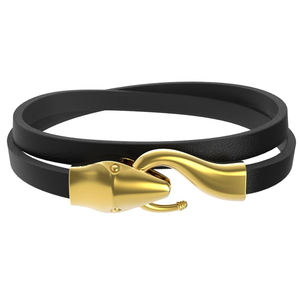 Mister Serpent Wrap Leather Bracelet V2