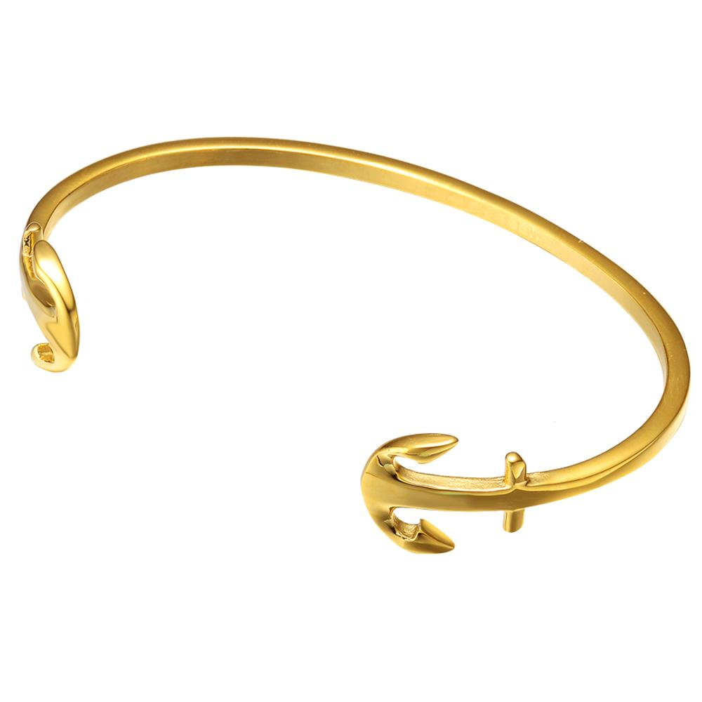 Mister Double Anchor Cuff Bracelet