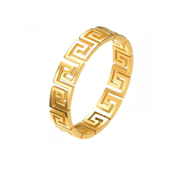 Mister Greek Cut Out Ring