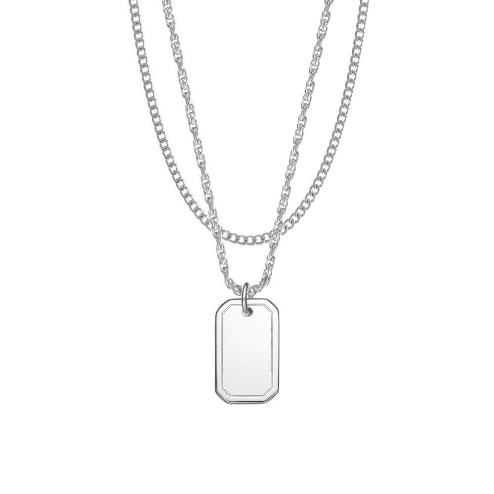 Mister Dog Tag Necklace