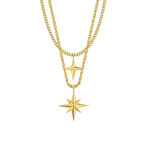 Mister Twin Star Necklace