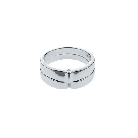 Mister Parallel Silver Ring - 925