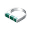 Mister Cube Silver Ring - 925