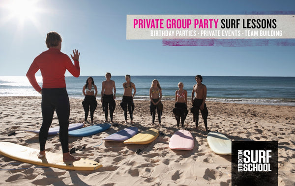 PRIVATE GROUP PARTY SURF LESSONS