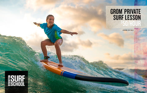 GROM PRIVATE SURF LESSON (UNDER 18)