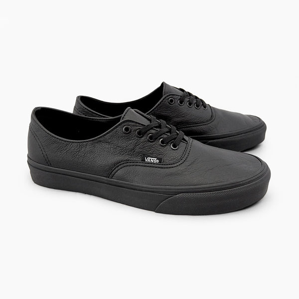 VANS ITALIAN LEATHER BLACK/BLACK 4