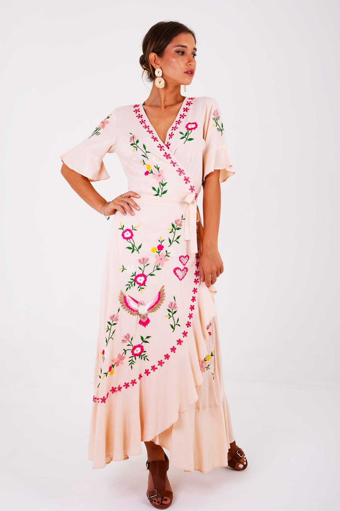 Señorita Maxi Wrap Dress