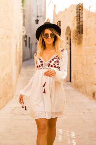 Antibes Mini Wrap Dress