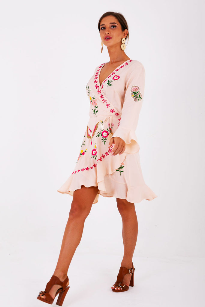Señorita Mini Wrap Dress