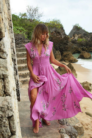 Free Spirit Maxi Wrap Dress