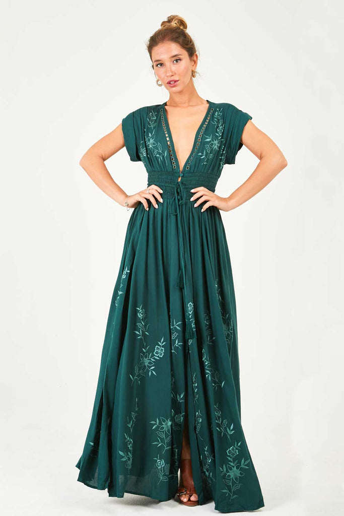 Dolce Vita Maxi Dress (Pine Green)