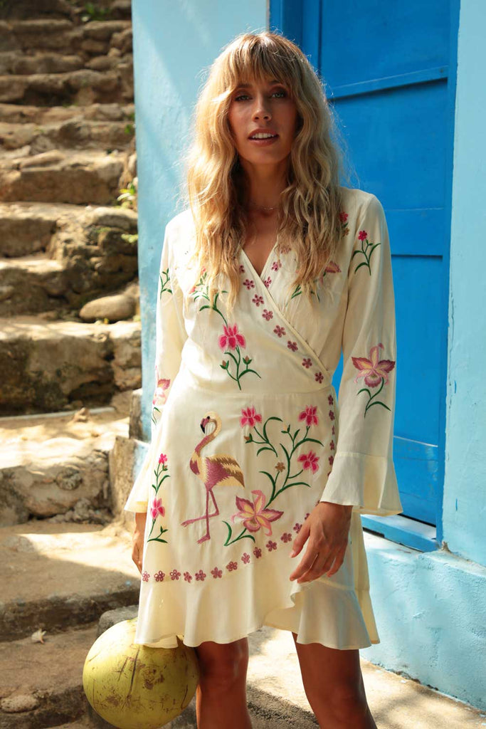 Free Spirit Mini Wrap Dress