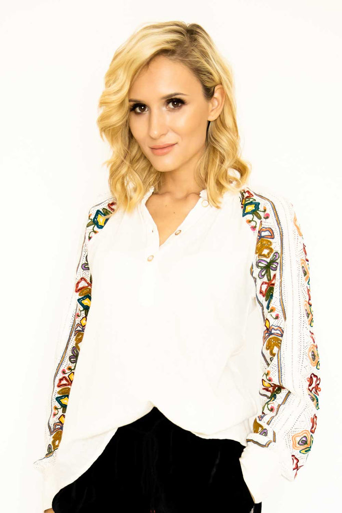 Gemma Floral Embroidered Blouse