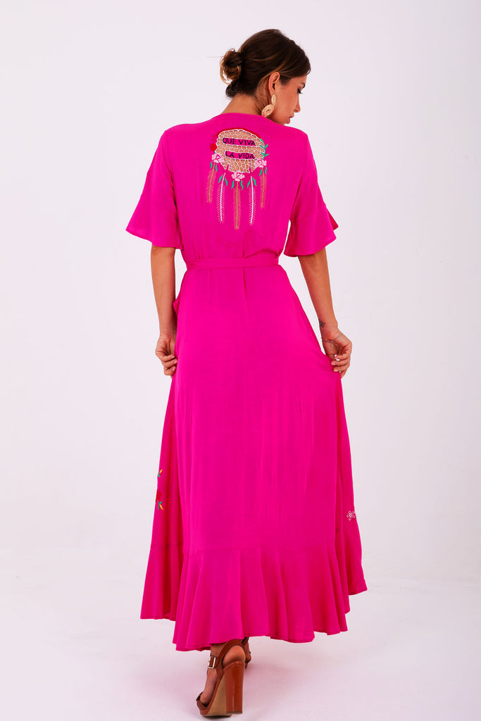 Penelope Maxi Wrap Dress