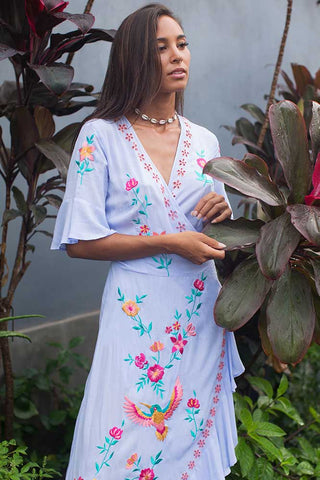 Felicity Free Spirit Maxi Wrap Dress