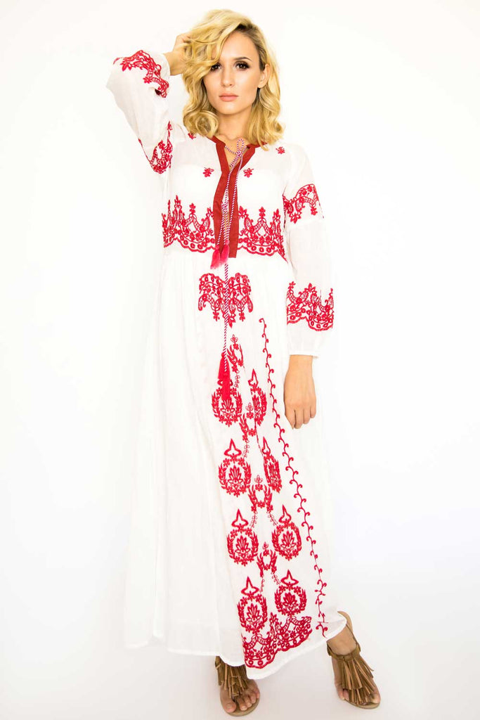 Martinique Embroidered Dress