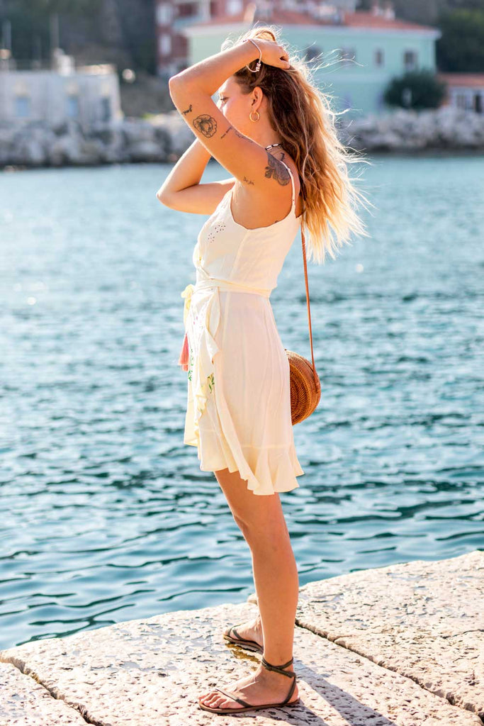 Riviera Slip Wrap Dress