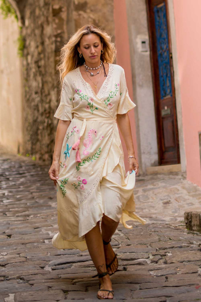 Riviera Maxi Wrap Dress