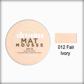 012 Fair Ivory Dream Matte Mousse Foundation - Maybelline
