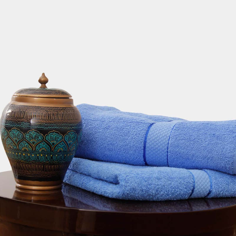 Egyptian Cotton Towel Blue One Piece