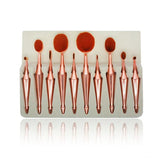 10 Piece Oval Brushes Set