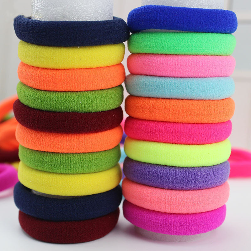 Candy Fluorescence Colored Hair Holders High Quality Rubber Bands Hair Elastics Accessories Girl Women Tie Gum