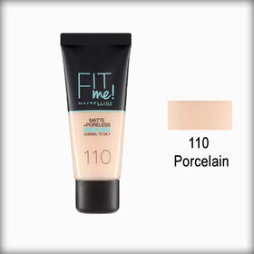 110 Porcelain Fit Me! Matte Poreless Foundation - Maybelline