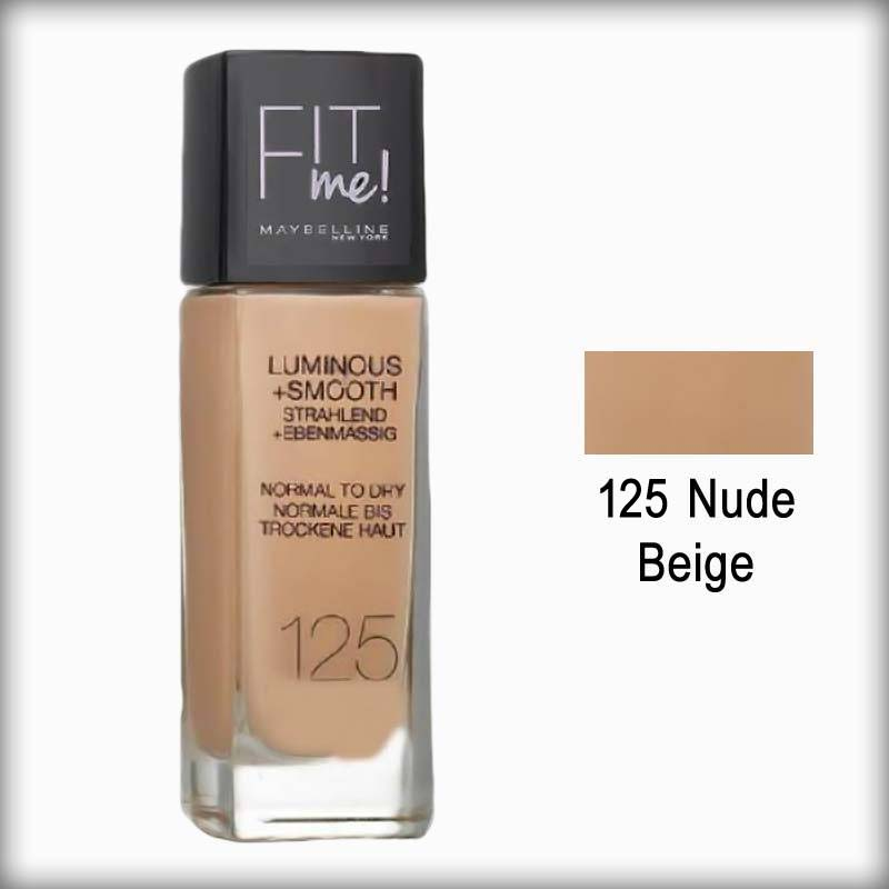 Maybelline Fit Me! Luminous + Smooth - 125 Nude Beige