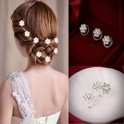 12 Pcs Delicate The Bride Hair Pins Headwear Shiny Hair Pins Headwear Wedding hairpins hair accessories