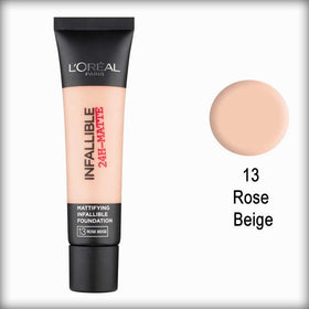 13 Rose Beige Infallible 24H-Matte Mattifying Foundation - L'Oreal Paris
