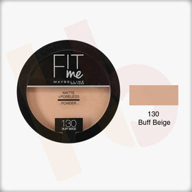 130 Buff Beige Fit Me Matte+Poreless Powder - Maybelline